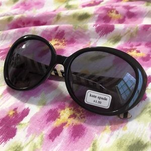 Kate Spade Oval Sunglasses with +1.50